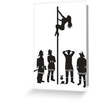 Fire Pole Greeting Card