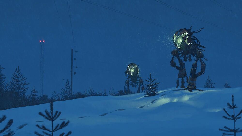 Nattens Röntgenplåt by Simon Stålenhag