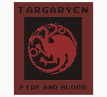 8-Bit Game of Thrones Targaryen Banner by Aaron Taylor