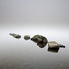 Rocks in the mist by Grant Glendinning