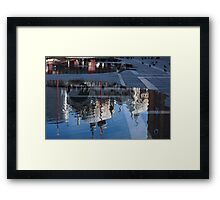 Reflecting on Domes, Birds and Puddles - Acqua Alta in Venice, Italy Framed Print