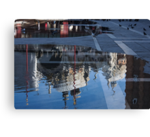 Reflecting on Domes, Birds and Puddles - Acqua Alta in Venice, Italy Canvas Print