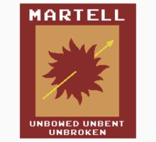 8-Bit Game of Thrones Martell Banner by Aaron Taylor