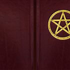 Book of Shadows - Red leather and Brass by UrbanFaun