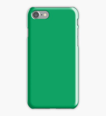 PURE COLOR-Peacock Green iPhone Case/Skin