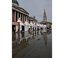 Oh So London - Rain, Puddles and Reflections Photographic Print