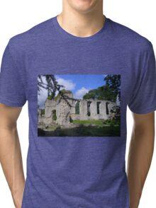 Palace Ruins at Bishops Waltham Tri-blend T-Shirt