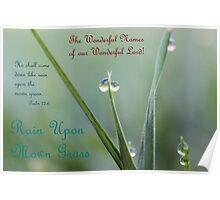 Rain Upon Mown Grass Poster
