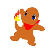 Charmander - Team Red Photographic Print