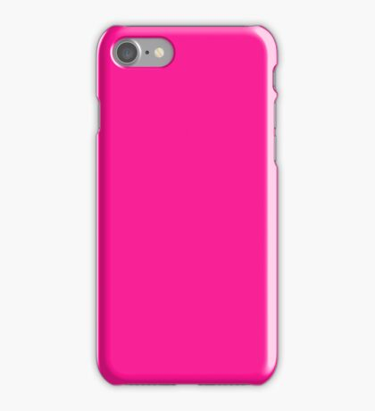 PURE COLOR-DEEP PINK iPhone Case/Skin