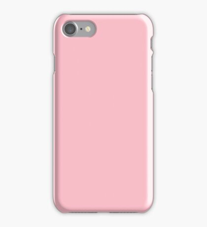 PURE COLOR-Pink iPhone Case/Skin