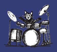 Drummer Cat by amanda metalcat
