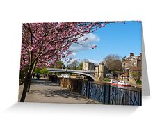 York City river landscape Greeting Card