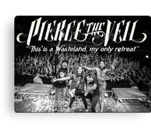 Pierce The Veil - Hell Above Live Performance Poster Canvas Print