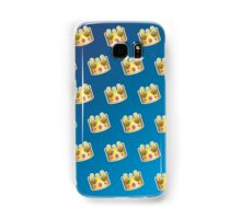 Crown Emoji Pattern Blue Samsung Galaxy Case/Skin