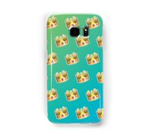 Crown Emoji Pattern Blue and Green Samsung Galaxy Case/Skin