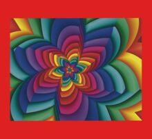 Geometric Rainbow Flower  Kids Clothes