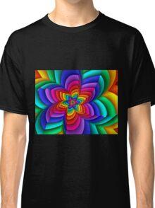 Geometric Rainbow Flower  Classic T-Shirt