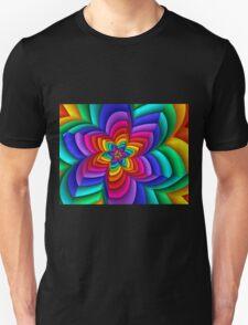 Geometric Rainbow Flower  T-Shirt