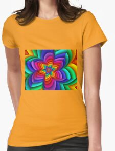 Geometric Rainbow Flower  T-Shirt