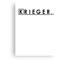 Krieger, MD Canvas Print
