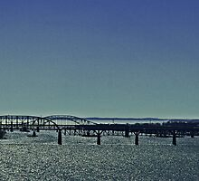 Bridge Over Sparkling Water (Panorama) by Gilda Axelrod