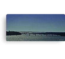 Bridge Over Sparkling Water (Panorama) Canvas Print