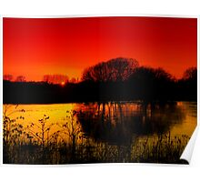 Sunset Over a Quiet Lake  Poster