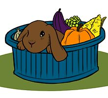 Bunny In A Bucket: Fall by miric