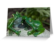 Greetings card frogs Greeting Card