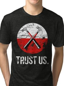 Pink Floyd TRUST US worn Tri-blend T-Shirt