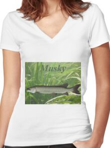 MUSKY T-SHIRT Women's Fitted V-Neck T-Shirt
