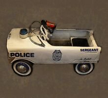 Police Pedal Car by Michelle Calkins