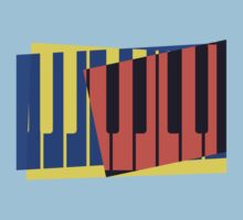 Pop Art Piano Keyboard Keys by retrorebirth