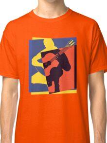 Pop Art Acoustic Guitar Player Classic T-Shirt