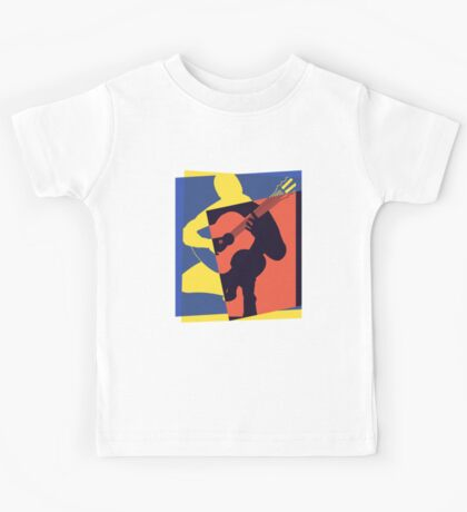 Pop Art Acoustic Guitar Player Kids Tee