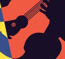 Pop Art Acoustic Guitar Player Sticker