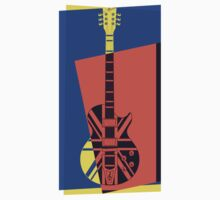 Pop Art British Flag Guitar by retrorebirth