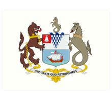 Coat of Arms of Belfast  Art Print