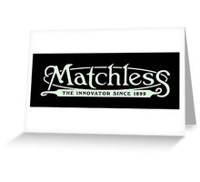 Matchless classic British motorcycle logo remake Greeting Card