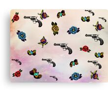 guns and roses  Canvas Print