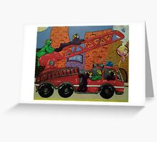 Fire Engine Greeting Card