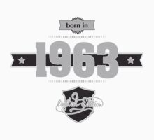 Born in 1963 (Light&Darkgrey) Kids Clothes