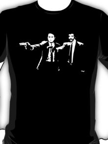 Pulp Fiction Neil deGrasse Tyson and Carl Sagan. T-Shirt