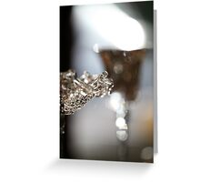 Glass on Glass. 5D Bokeh  Greeting Card