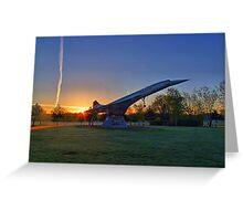 Concorde Sunrise 4 - Brooklands Greeting Card