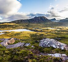 Last Light in the Highlands, Coigach Scotland by Cherrybom