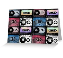Watercolor cassette pattern Greeting Card