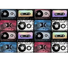 Watercolor cassette pattern Photographic Print