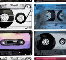 Watercolor cassette pattern Sticker